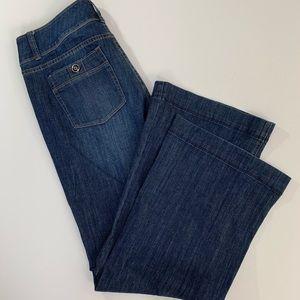 White House Black Market 8S Trouser Leg Jeans